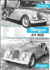 MORGAN 4/4 1600 2 & 4 SEATER AND PLUS 8 SALES 'BROCHURE'/SHEET MID 70's