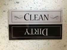 Clean / Dirty Dishes Magnets Sign for Dishwasher - 2 Pack