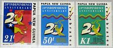 PAPUA NEUGUINEA NEW GUINEA 1995 758-60 879-81 20th Ann Independence Map Karte **