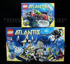 NEW - ATLANTIS Gateway of the Squid & Seabed Scavenger - LEGO 8059 & 8061 SEALED