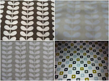 Orla Kiely bundle 4 * 50cm square FQ linear stem cocoa cloud grey cream rockpool