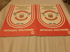 Pair Manchester United Centenary programs Real Madrid