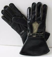 Late 1950's Naugahyde & Leather Motorcycle Gauntlets Made in the United Kingdom