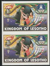 Lesotho (1271) - 1984 OLYMPICS BASKETBALL IMPERF PAIR unmounted mint