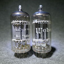 Mullard 12AU7/ECC82 Matched Pair Long Plate Dual Post Getter England 1958 Strong