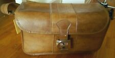 SALE! Vintage Jaguar light brown large photo camera travel bag purse