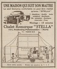 Z8158 Chalet Remorque STELLA - Pubblicità d'epoca - 1930 Old advertising
