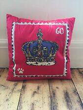 Marks And Spencer Queen's Diamond Jubilee 60 Years Rein Celebration Red Cushion.
