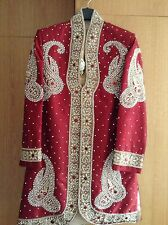 Asian wedding /Mens Sherwani / Red and Gold/Asian Grooms Outfits/Brand New