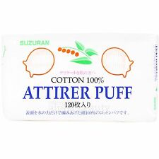 Suzuran Japan Attirer Pure Cotton Puff (120 pieces) - 5x6cm cotton pad