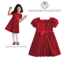 American Girl CL BITTY BABY SWEET SCARLET DRESS SIZE LARGE(6) NEW Red Christmas