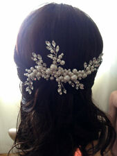 Luxury Bridal Hair Accessories, Luxury Ivory Pearl Wedding Headpiece, Pearl Comb