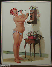 Duane Bryers Hilda Page Crank Call Old Time Phone Cat On Table In Underpants