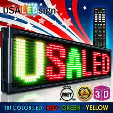 "LED Sign 20MM 3-Color Programmable Scrolling Message Board Outdoor 53""X15"""
