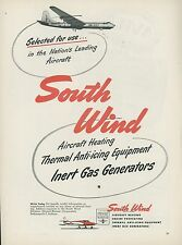 1951 South Wind Aviation Ad Aircraft Heaters Heating Convair B-36 Bomber