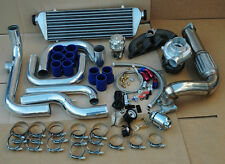HONDA DEL SOL 93-97 B16 B18 SIR TURBO KIT ALUMINUM INTERCOOLER PIPING KIT + BOV