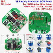 4S 10A 18650 Li-ion Lithium Battery BMS Circuit Protection PCB Board 14.8V 16.8V