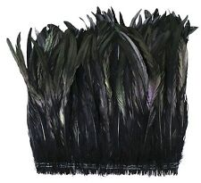"12"" COQUE FRINGE - BLACK IRIDESCENT 4-6"" Feathers 300-500 pcs; Trim/Costume"