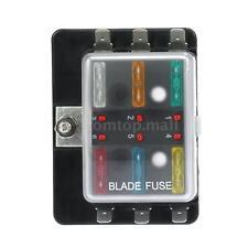 6 Way Blade Fuse Box Holder LED Warning Light Kit for Car Boat Trike 12V J6P4