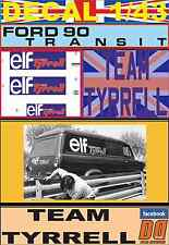 DECAL 1/43 FORD TRANSIT TEAM TYRRELL ELF (03)