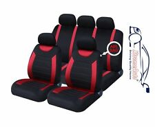 9 PCE Sports Carnaby Red/ Black Full Set of CAR Seat Covers Ford Fiesta Focus