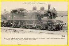 cpa LOCOMOTIVE à Vapeur Française MACHINE TENDER 32-558 pour TRAIN de BANLIEUE