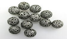 25 Antique Silver Filigree Round Metal Beads 8MM