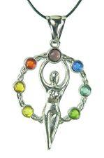BUTW Pewter Wheel of Life Chakra Amulet Pendant Necklace Jewelry Hindu Bu  0837C