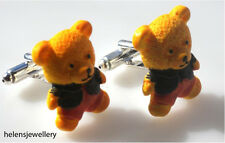 GORGEOUS HANDMADE CUTE TEDDY BEAR CUFFLINKS + FREE GIFTBAG+FASTFREE P&P