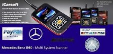 TOP OBDII iCarsoft i980 Mercedes Benz Fault Code Scanner Reset  Diagnostics