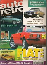 AUTO RETRO 198 V8 COSWORTH FIAT X1/9 MERCEDES 280 500 SLC ASTON MARTIN DB5 AMC