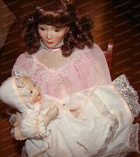 Lullaby, Victorian Porcelain Doll Set (Motherhood 1990 Sandra Kuck) Ashton Drake