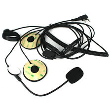 2-Pin Motorcycle Helmet Headset Mic Earpiece Finger PTT for BAOFENG Kenwood TYT