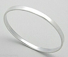 SHINY 7g Solid Sterling Silver 5mm Thick Flat Bangle Bracelet