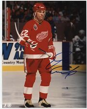 """DINO CICCARELLI DETROIT RED WINGS SIGNED 8""""x10"""" PHOTO w/ COA"""