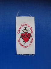 écusson insigne tissu patch religieux Coeur Sacré de Jésus pèlerinage scoutisme
