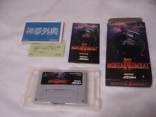 Mortal Kombat 2 Super Famicom SFC Japan Boxed