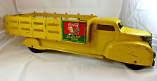 "VINTAGE 1940's COCA COLA Delivery Truck Marx Toys Large 21"" Yellow  Sprite Boy"