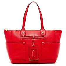 MARC JACOBS East to West Leather Large Tote Bag Shopper Rosey Red NEW WITH TAGS