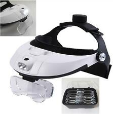 Magnifying Glass with Light LED Illuminated Head Dental Surgical Loupe Headlamp