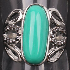 Boutique Recommend Tibetan Silver Turquoise Pendent Ring Jewelry
