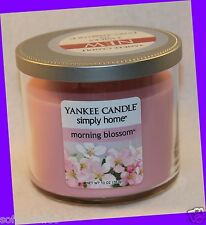 Yankee Candle Simply Home MORNING BLOSSOM Two Wick Jar Candle 10 oz