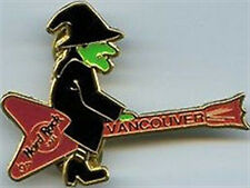 Hard Rock Cafe VANCOUVER 1997 HALLOWEEN PIN - WITCH Guitar