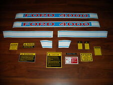 Ford 4000 tractor hood decal set 1968 up  f503hb