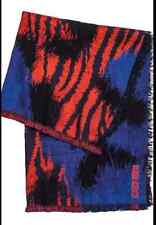 KENZO H&M Wool Blend Scarf Unisex Blue Red Pattern SOLD OUT online & shops BNWT