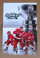 Detroit Red Wings 2008 Stanley Cup Program Insert Lidstrom, Datsyuk, Zetterberg