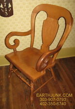 Tell City Young Republic Balloon Back Arm Chair Hard Rock Andover Maple 8061