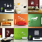 3D DIY Silver Mirror Removable Wall Stickers Home Room Acrylic Decals Art Decor