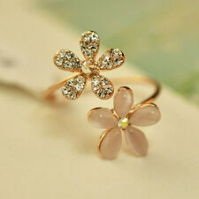Inlay Crystal Ring Opal Adjustable Alloy Ring Korean Fashion Jewelry