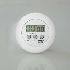 White Digital LCD Kitchen Cooking Timer Stop Countdown Alarm Clock Clip Plastic